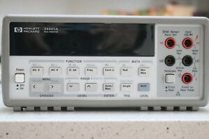 Agilent Hpkeysight 34401a Dmm 6 Digit Bright Display Well Maintained
