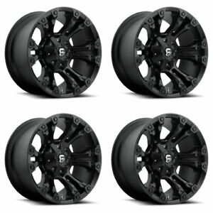 Set 4 17 Fuel Vapor D560 Black Wheels 17x9 6 Lug 6x135 6x5 5 Truck Rims 12mm