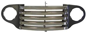 1948 1949 1950 Ford Truck Grill Black Chrome W o Park Lights 7c 8204 bc