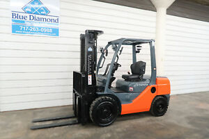 2013 Toyota Forklift 8fdu30 6 000 Pneumatic Diesel Three Stage Sideshift