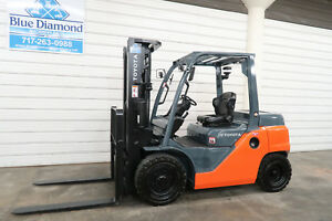 2014 Toyota Forklift 8fd35u 8 000 Pneumatic Diesel Three Stage Sideshift