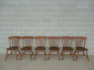 Ethan Allen Set Of 6 Arrow Back Chairs 10 6011