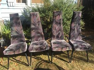 Adrian Pearsall Craft Assoc Set Of 4 Dining Chairs Original Fabric Excellent