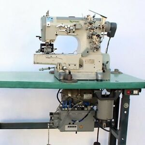 Pegasus W664 Cylinder Coverstitch 3 needle Puller Industrial Sewing Mach