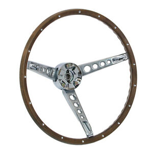 Mustang Steering Wheel With Horn Ring Woodgrain 1967 Cj Pony Parts