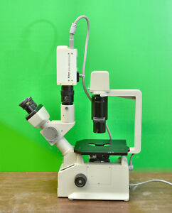 Nikon Tms F Trinocular Inverted Phase Contrast Microscope Video Cam