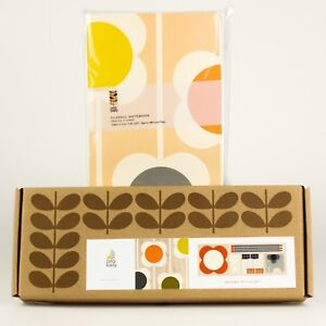 Orla Kiely Abacus Flower Notebook Wooden Office Set Sticky Notes binder Clips