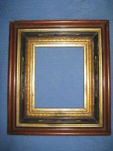 Antique Aesthetic Eastlake Victorian Deep Gold Gilt Picture Frame 8 X 10