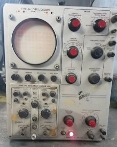 Vintage Tektronix Type 541 Oscilloscope Type 1a1 Dual Trace Plug in Unit