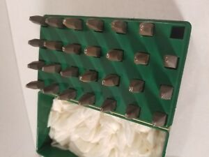 Vintage Mecco Safety Hevi bevl Steel 3 32 Letter Stamps Punches 27 Pieces
