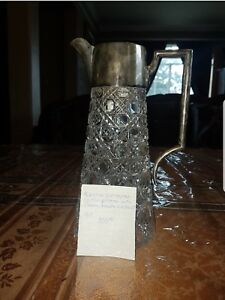 American Cut Pitcher With Sterling Silver