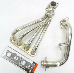 Obx Stainless Steel Header For 1999 2005 Toyota Mr2 Spyder 1 8l Zzw30 W Downpipe
