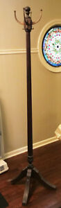 Vintage Unique Coat Hat Rack 6 Foot Hat Coat Stand Hall Tree