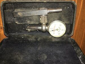 Vintage Starrett Last Word Dial Test Indicator W Box And Mount No 711 f 1 1000