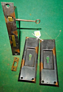 Classic Clinton Lock Pocket Door Mortise Lock W Key Single Door Nice 11344