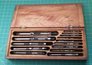 Vintage Keystone Reamers T Co Set With Wooden Case