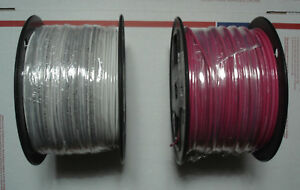 Two 500 Rolls Southwire 14 Awg White Red Stranded Copper Wire Mtw thhn thwn awm