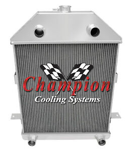 3 Row Reliable Champion Radiator For 1941 Ford Truck Flathead Configuration