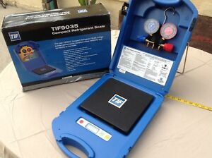 Nice Tif9035 Tif Compact Refrigerant Scale In Case Box With Robinair Manifold