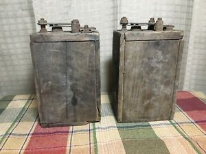 2 Antique Ford Model T A Wood Box Battery Ignition Coils 1900s