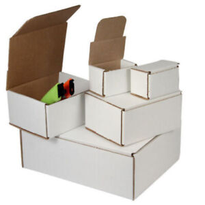 100 4 X 4 X 4 White Corrugated Shipping Mailer Packing Box Boxes