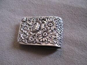Early 20c S Kirk Son Sterling Silver Repousse Napkin Clip
