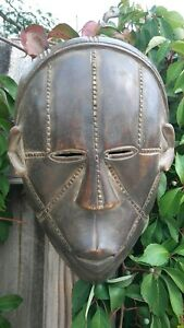 African Wooden Mask Tabwa Dr Congo Wood Mask Art