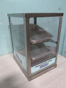 round up H d Commercial Lighted Bakery Counter top Merchandiser display Case