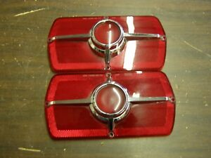 Nos Oem Ford 1965 Fairlane 500 Tail Light Lenses Pair W o Backup Lights
