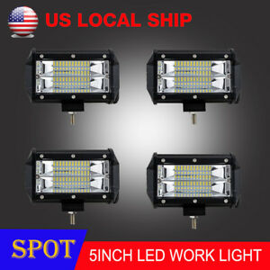 4x 5 Inch 288w Led Off Road Work Light Bar Spot Beam Driving Fog Lights Lamps