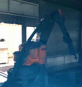 Abb Irb5402 Manipulator Arm Paint Robot W Controller And Teach Pendant