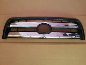 Fits 2003 2006 Toyota Tundra Double Cab Front Bumper Grille W Chrome Trim