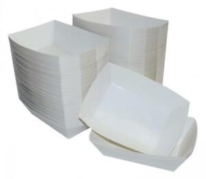 Ja Kitchens White Paper Food Tray 2 5 Lb Capacity 250 Count