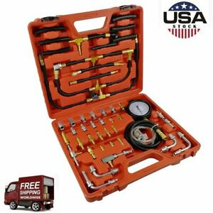 0 140psi Accurate Master Fuel Injection Pressure Tester Gauge Set Kit System Us