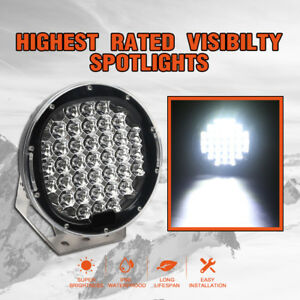 3700w 9 Cree Led Driving Spotlights Spot Beam Red Round Work Light 4wd Offroad