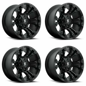 Set 4 22 Fuel Vapor D560 Matte Black Wheels 22x10 8 Lug 8x170 Truck Rims 18mm