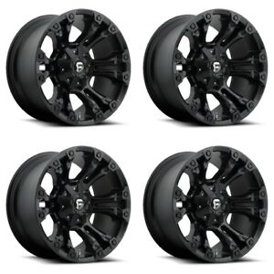 Set 4 22 Fuel Vapor D560 Matte Black Wheels 22x10 8 Lug 8x180 Truck Rims 18mm