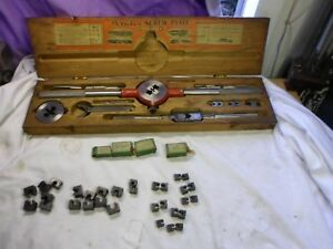 Vintage Greenfield gtd Little Giant Pericles Screw Plate Tap And Die Set No 2
