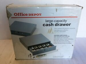 Manual Cash Drawer Large Capacity 3 7 8 In H X 17 3 4 In W X 15 7 8 In D Gray