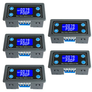5pcs Time Delay Relay Module Digital Display Delay Cycle Control Switch 6 30v