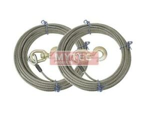 2 Pcs Steel Core Winch Cable Line Wire Rope W Swivel Hook 3 8 150 Wrecker