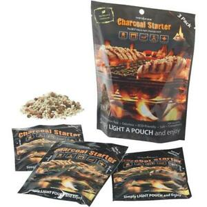 Instafire Charcoal Briquette Grill Smoker Fire Starter Pouch 3 Pack 3pccbso