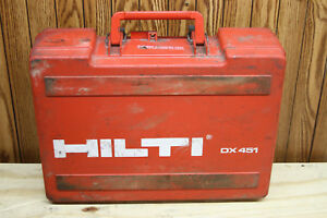 Hilti Dx 451 Powder Actuated Ramset Fastening Tool W Case cr