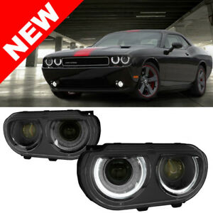 08 14 Dodge Challenger Facelift Style Ram Air Headlights W Led Drl And Signal