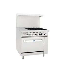 New Heavy 36 Range 12 Griddle 4 Burners 1 Full Oven Stove Lp Prop Gas Only