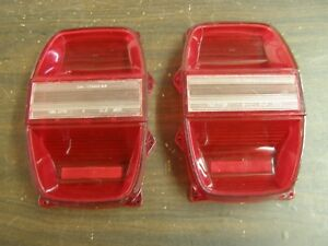 Nos Globrite Ford 1968 Galaxie 500 Tail Light Lamp Lenses Pair
