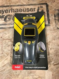 General Tools Pin Pinless Mm9 Combo Moisture Meter Digital Scanner Test Probe