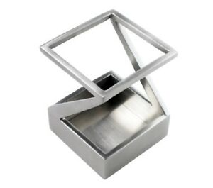 Artsondesk Modern Art Pen And Pencil Holder St203 Stainless Steel Satin Finish P