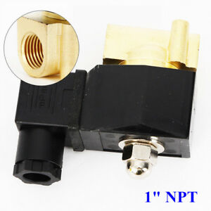 110v 1 Electric Solenoid Valve N c Normally Closed Mini Water Air Valve Brass