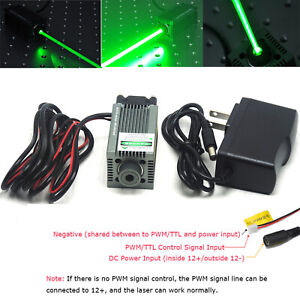 Focusable 520nm 1w 1000mw Dot Green Laser Diode Module Engraving And Cutting Ttl
